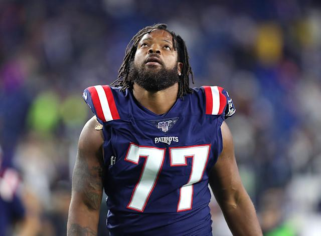 "The <a class=""link rapid-noclick-resp"" href=""/nfl/teams/new-england/"" data-ylk=""slk:New England Patriots"">New England Patriots</a> traded defensive end Michael Bennett to the Cowboys. (Getty Images)"