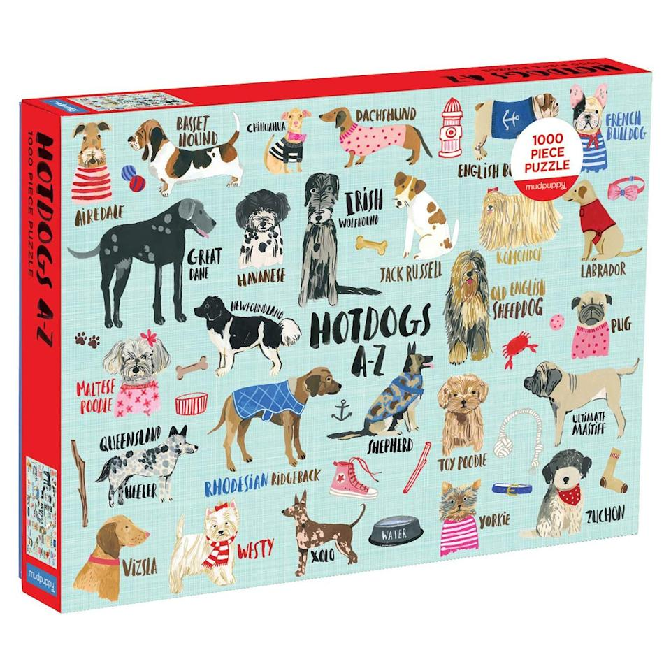 "<p>This colorful 1,000-piece puzzle features illustrations of dog breeds for every letter in the alphabet, including a chihuahua wearing a bowtie. </p> <p><strong>To buy</strong>: $21; <a href=""https://www.amazon.com/dp/0735349096/ref=as_li_ss_tl?ie=UTF8&linkCode=ll1&tag=rslifebestpuzzlesjandrulonis0320-20&linkId=b535c2dd4a3dfcca06cfd8ef2db274b5&language=en_US"">amazon.com</a>. </p>"