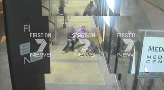 CCTV of the attack on the disabled pensioner. Source: Seven News