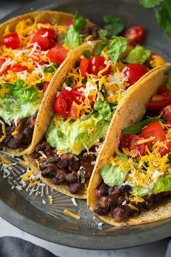 """<p>Is it Tuesday yet?</p><p>Get the recipe from <a href=""""http://www.cookingclassy.com/black-bean-tacos-with-avocado-cilantro-lime-crema/"""" rel=""""nofollow noopener"""" target=""""_blank"""" data-ylk=""""slk:Cooking Classy"""" class=""""link rapid-noclick-resp"""">Cooking Classy</a>.</p>"""