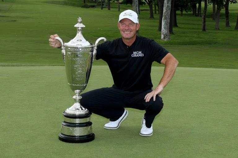 Alex Cejka after winning the Senior PGA Championship at Southern Hills Country Club in Tulsa at teh weekend