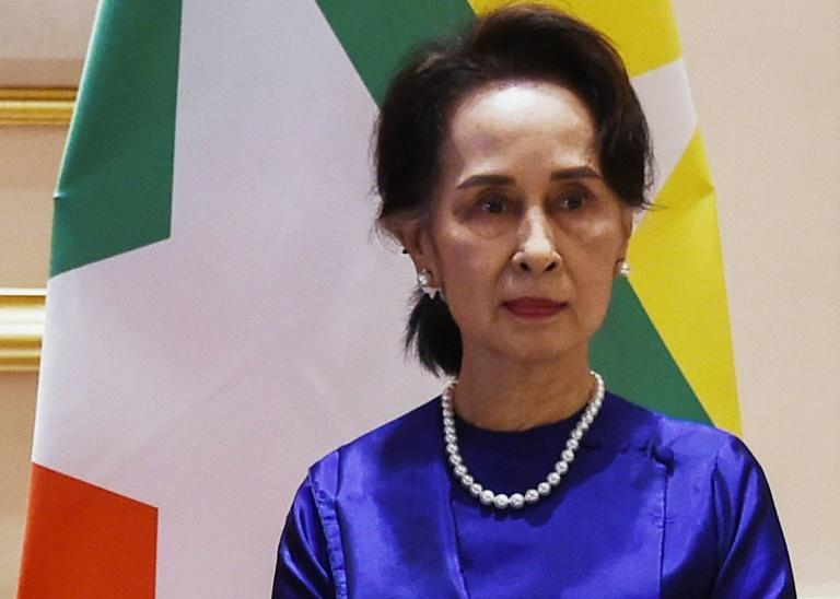 Civilian leader Aung San Suu Kyi has not been seen in public since she was detained by the military on February 1