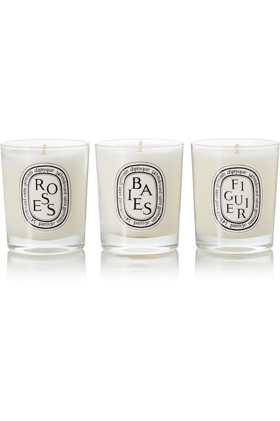 <p>This <span>Diptyque Set of Candles</span> ($108) is polished and makes a living room essential.</p>