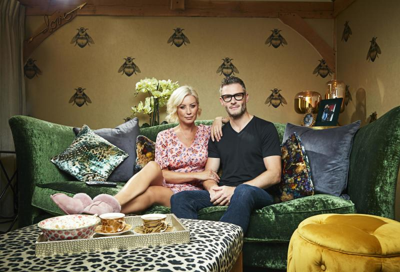 Denise Van Outen and partner Eddie are returning to 'Celebrity Gogglebox'. (Channel 4)