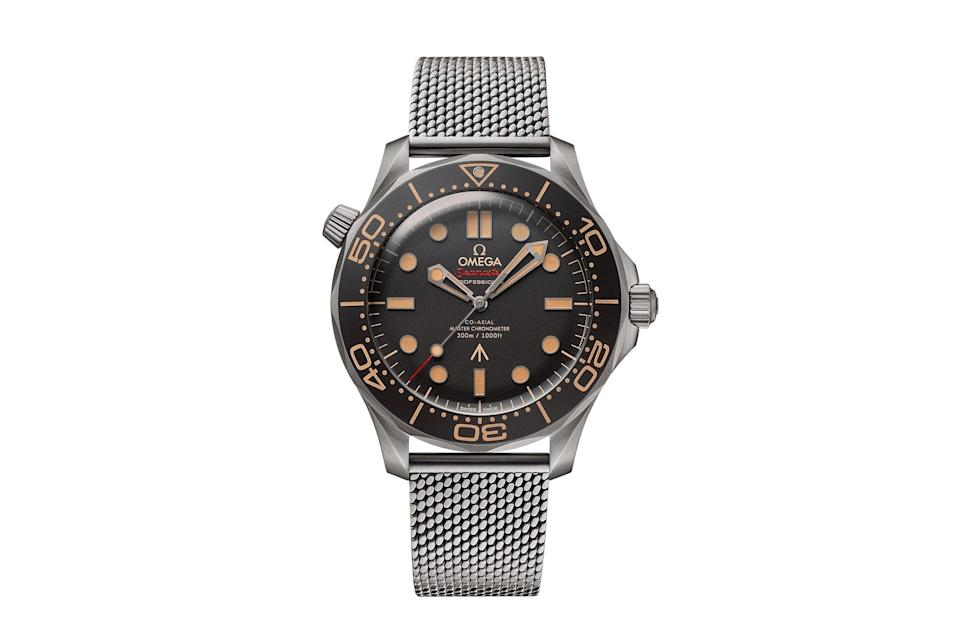 """$9200, Omega. <a href=""""https://www.omegawatches.com/watch-omega-seamaster-diver-300m-omega-co-axial-master-chronometer-42-mm-21090422001001"""" rel=""""nofollow noopener"""" target=""""_blank"""" data-ylk=""""slk:Get it now!"""" class=""""link rapid-noclick-resp"""">Get it now!</a>"""