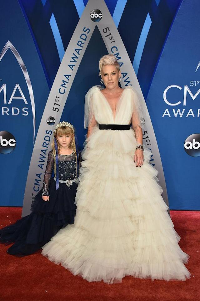 <p>Pink's performance was one of the more highly anticipated of the night, and her outfit definitely didn't disappoint. (Photo: Getty Images) </p>