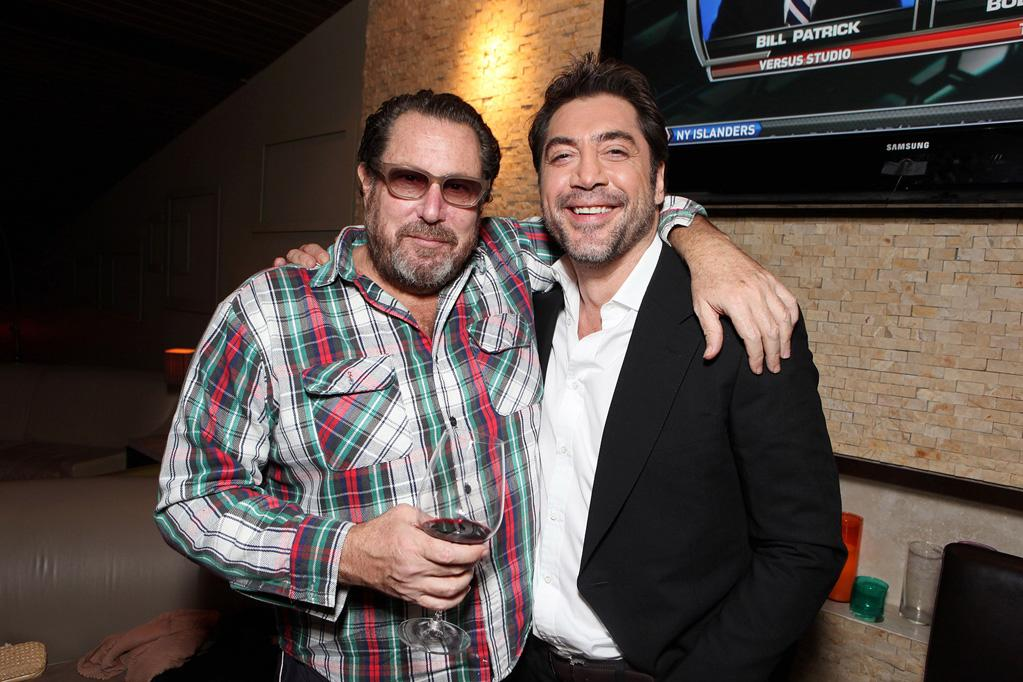 """<a href=""""http://movies.yahoo.com/movie/contributor/1800020495"""">Julian Schnabel</a> and <a href=""""http://movies.yahoo.com/movie/contributor/1800023079"""">Javier Bardem</a> at the Los Angeles screening of <a href=""""http://movies.yahoo.com/movie/1810080186/info"""">Miral</a> on March 22, 2011."""
