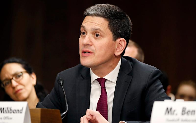 David Miliband, former Foreign Secretary and now chief executive of the International Rescue Committee - Getty