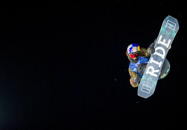 Yuki Kadono from Japan during the X Games Oslo 2016 Men's Snowboard Big Air February 27, 2016. REUTERS/Vegard Wivestad Grott/NTB Scanpix ATTENTION EDITORS - THIS IMAGE WAS PROVIDED BY A THIRD PARTY. FOR EDITORIAL USE ONLY. NOT FOR SALE FOR MARKETING OR ADVERTISING CAMPAIGNS. THIS PICTURE IS DISTRIBUTED EXACTLY AS RECEIVED BY REUTERS, AS A SERVICE TO CLIENTS. NORWAY OUT. NO COMMERCIAL OR EDITORIAL SALES IN NORWAY. NO COMMERCIAL SALES.