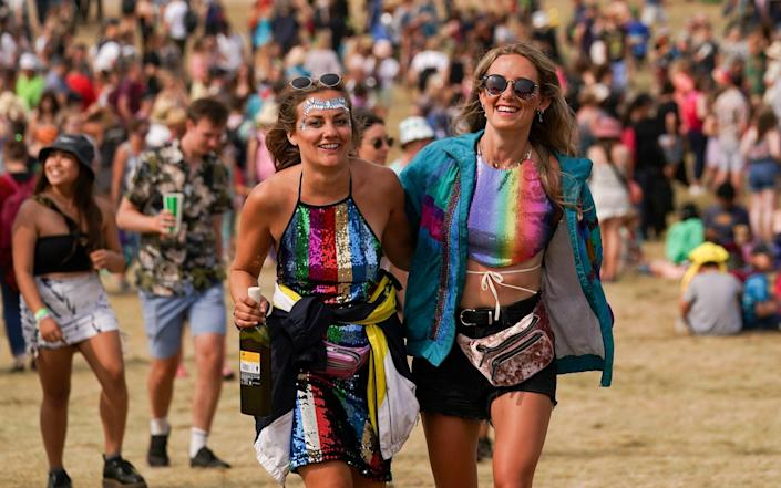 Festival-goers at Latitude in Suffolk - Jacob King /PA