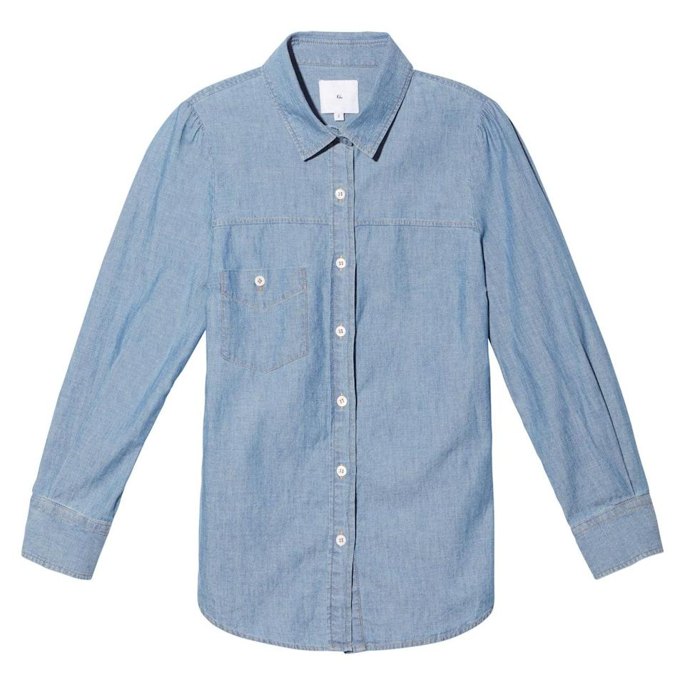 <p>The Elise Chambray button down</p>