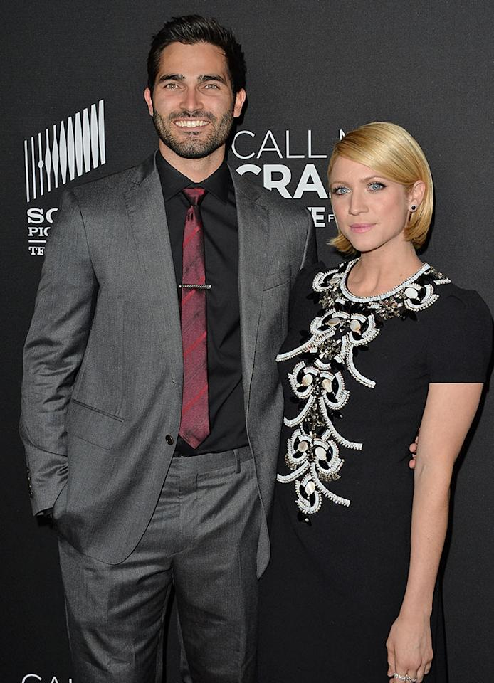 "Tyler Hoechlin and Brittany Snow attend the premiere of Lifetime's ""Call Me Crazy: A Five Film"" at Pacific Design Center on April 16, 2013 in West Hollywood, California."
