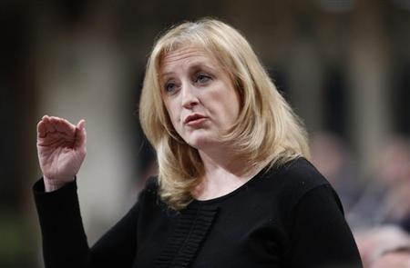 Canada's Labour Minister Raitt speaks in the House of Commons on Parliament Hill in Ottawa