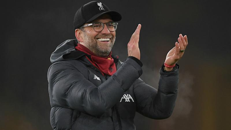 Klopp laughs off 'Inevitables' tag after Wolves win stretches Premier League lead
