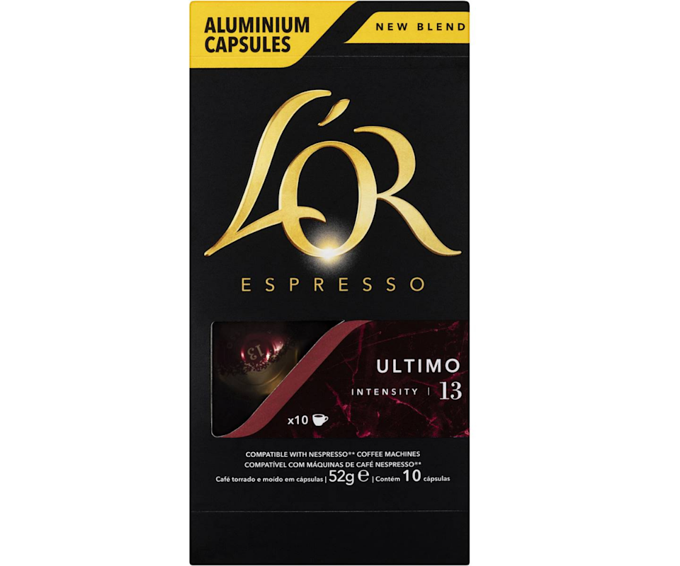 L'or Espresso Ultimo Intensity 13 Coffee Capsules 10 Pack. Photo: Woolworths