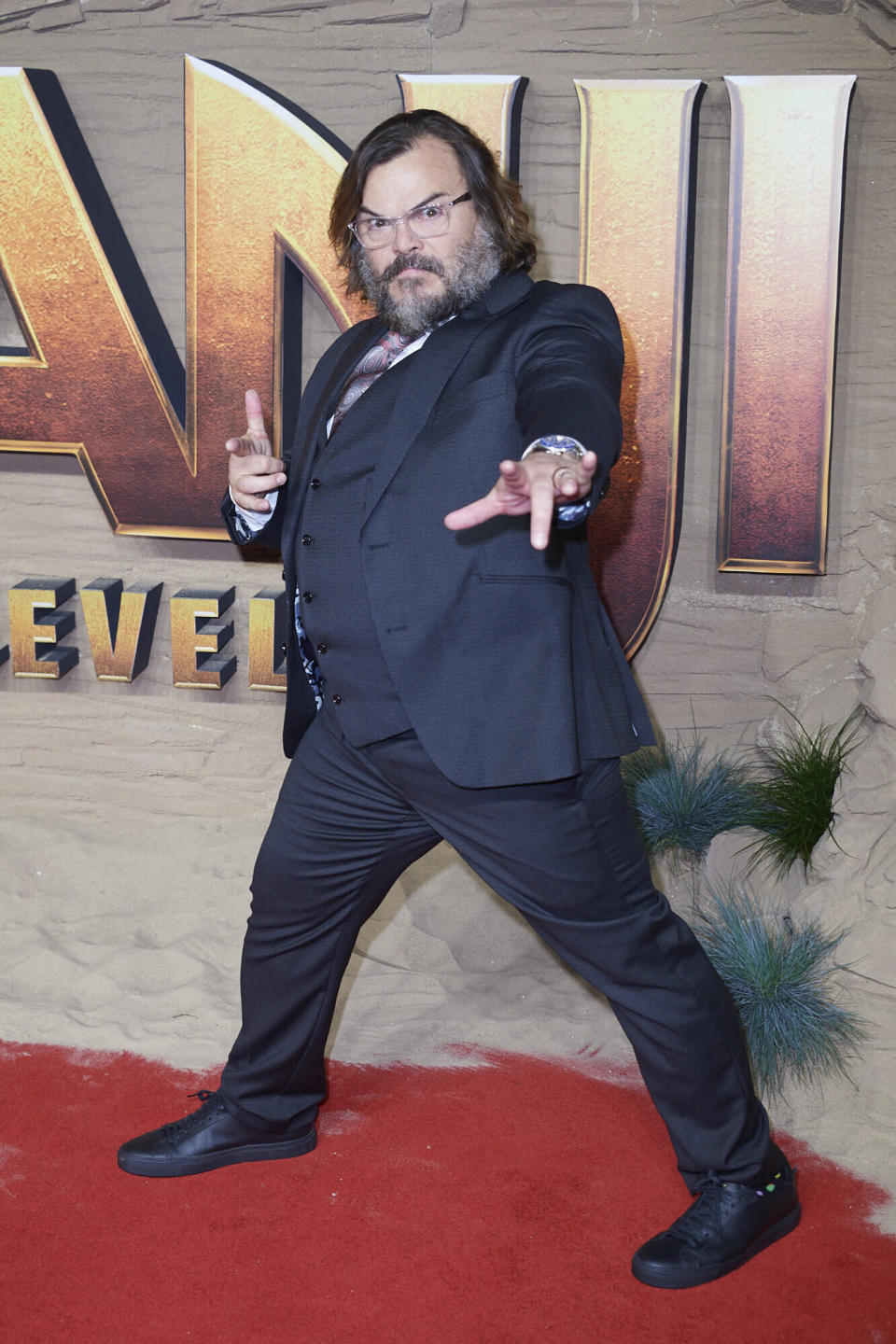 Photo by: KGC-247/STAR MAX/IPx 2019 12/5/19 Jack Black at the premiere of 'Jumanji: The Next Level' in London, England.