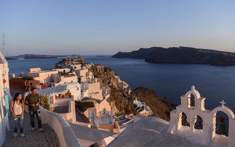 Santorini has a quiet summer - AFP