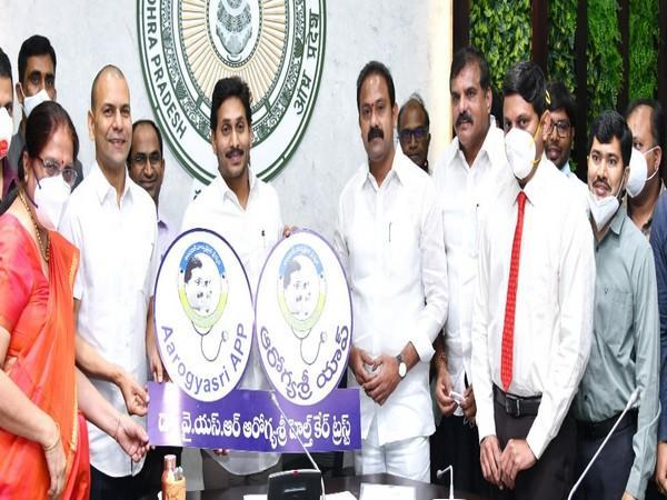 Andhra Pradesh Chief Minister YS Jagan Mohan Reddy extended the scope of YSR Aarogyasri on Tuesday. (Photo/ANI)