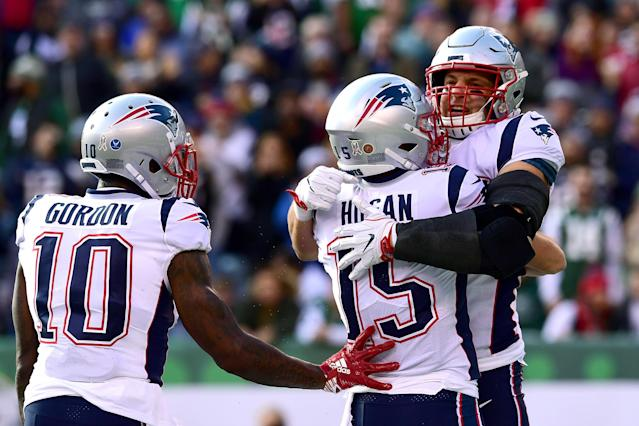 "<a class=""link rapid-noclick-resp"" href=""/nfl/players/24017/"" data-ylk=""slk:Rob Gronkowski"">Rob Gronkowski</a> is one of several <a class=""link rapid-noclick-resp"" href=""/nfl/teams/nwe"" data-ylk=""slk:Patriots"">Patriots</a> returning to action for the playoff run, which should strike fear into their AFC counterparts. (Getty)"