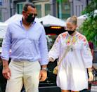 "<p>After four years together, the couple reportedly called off their engagement. ""<a href=""http://people.com/music/jennifer-lopez-alex-rodriguez-end-engagement/"" class=""link rapid-noclick-resp"" rel=""nofollow noopener"" target=""_blank"" data-ylk=""slk:This has been a long time coming"">This has been a long time coming</a>,"" a source told <strong>People</strong>. ""They are tied in their business worlds so it's not a cut and dry break up. It's taken a while for them to even think about untangling it all."" </p> <p>By March 13, however, <a href=""https://www.popsugar.com/celebrity/jennifer-lopez-alex-rodriguez-shut-down-breakup-rumors-48215341"" class=""link rapid-noclick-resp"" rel=""nofollow noopener"" target=""_blank"" data-ylk=""slk:Lopez and Rodriguez had released a joint statement"">Lopez and Rodriguez had released a joint statement</a> to <strong>People</strong> saying they are ""working through some things."" The duo reunited in the Dominican Republic on March 14 and are reportedly <a href=""https://people.com/music/jennifer-lopez-alex-rodriguez-willing-to-do-whatever-it-takes-to-stay-together-source/"" class=""link rapid-noclick-resp"" rel=""nofollow noopener"" target=""_blank"" data-ylk=""slk:trying to work through their differences"">trying to work through their differences</a>.</p>"