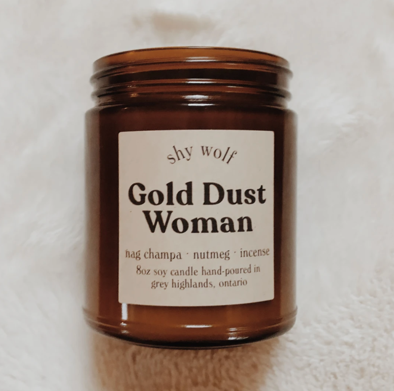 Shy Wolf Gold Dust Woman Candle (Photo via Shy Wolf)