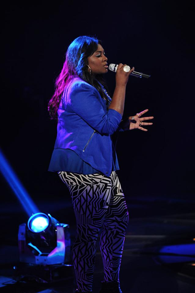 """Candice Glover performs """"Next to Me"""" on the Wednesday, May 8 episode of """"American Idol."""""""
