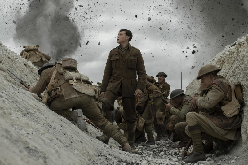 George McKay as one of the soldiers at the center of '1917' (Photo: Francois Duhamel / Universal Pictures and DreamWorks Pictures)