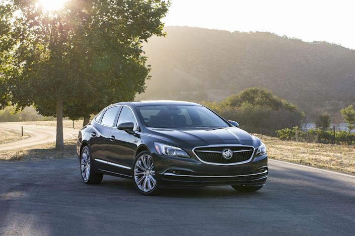 """<p><a href=""""https://www.caranddriver.com/buick/lacrosse"""" rel=""""nofollow noopener"""" target=""""_blank"""" data-ylk=""""slk:The 2019 Buick LaCrosse"""" class=""""link rapid-noclick-resp"""">The 2019 Buick LaCrosse</a> hybrid is, quite literally, the last of a dying breed. It's a big, soft riding sedan meant for cruising—a vehicle format long on its way out in the face of ever-more-popular SUVs—and it's been sentenced to the chopping block this year by General Motors. Indeed, 2019 is its last year of production for the LaCrosse family overall (the nonhybrid version included). So if you're on the hunt for a classic American-style sedan that just happens to use an electric motor to help its four-cylinder gas engine deliver 29 mpg in combined driving, grab a LaCrosse hybrid while you can.<br></p>"""