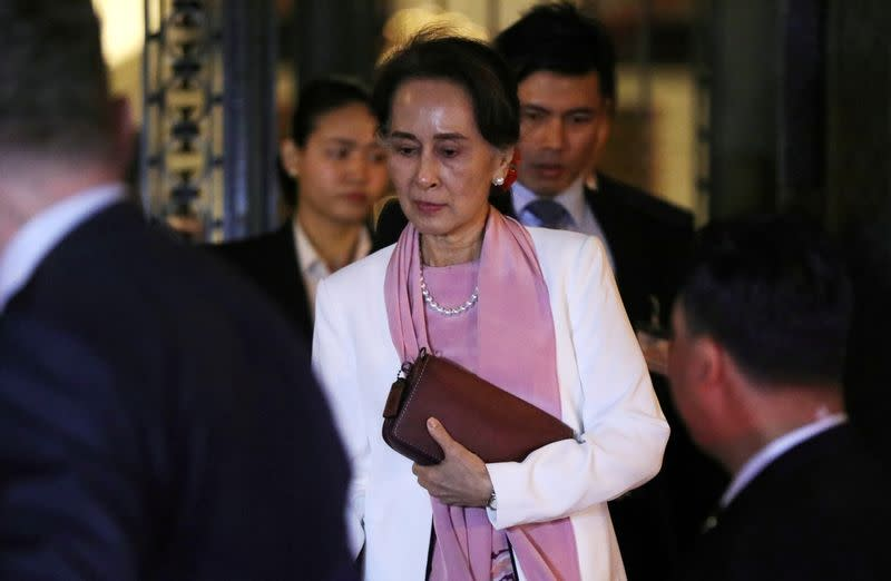 EU lawmakers suspend Myanmar's Suu Kyi from rights prize events