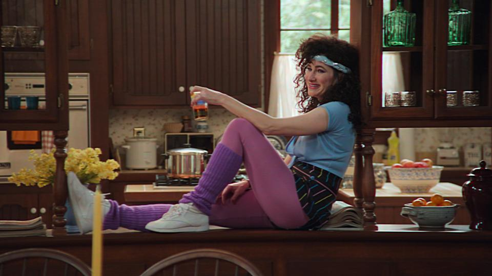 Kathryn Hahn in character as Agnes in Wandavision