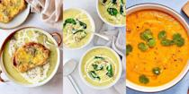 """<p>Whether you've got leftover veg laying about or just fancy something to warm you up, a winter soup is the way to go. Perfect for cutting down on food waste and the ultimate <a href=""""https://www.delish.com/uk/cooking/recipes/g33530905/chicken-weeknight-dinners/"""" rel=""""nofollow noopener"""" target=""""_blank"""" data-ylk=""""slk:weeknight meal"""" class=""""link rapid-noclick-resp"""">weeknight meal</a> (not to mention, lunch), there's nothing we love more than a homemade soup. For a wonderful collection of 26 winter soup recipes, check out our favourites now. </p><p>Looking for more delicious <a href=""""https://www.delish.com/uk/cooking/recipes/g33443935/best-soup-recipes/"""" rel=""""nofollow noopener"""" target=""""_blank"""" data-ylk=""""slk:soup recipes"""" class=""""link rapid-noclick-resp"""">soup recipes</a>? We've got a soup recipe for every. single. occasion. </p>"""