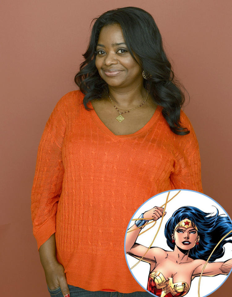 "<strong>Octavia Spencer (""The Help""):</strong> Wonder Woman is my favorite superhero -- because there's a ""woman"" in that title, and she's just kick ass!"