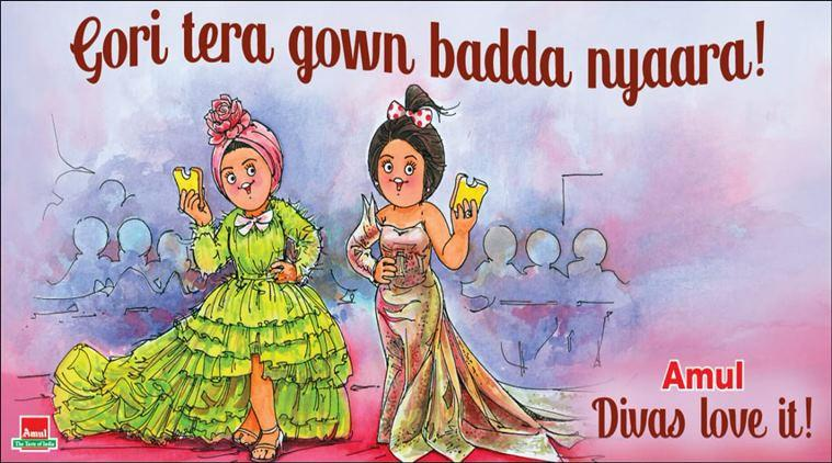 deepika padukone, cannes 2019, aishwarya rai bachchan, bollywood cannes 2019, indian actors cannes 2019, deepika cannes 2019 looks, sonam cannes 2019 looks, priyanka cannes 2019 looks, amul cartoon, latest amul topical, indian express