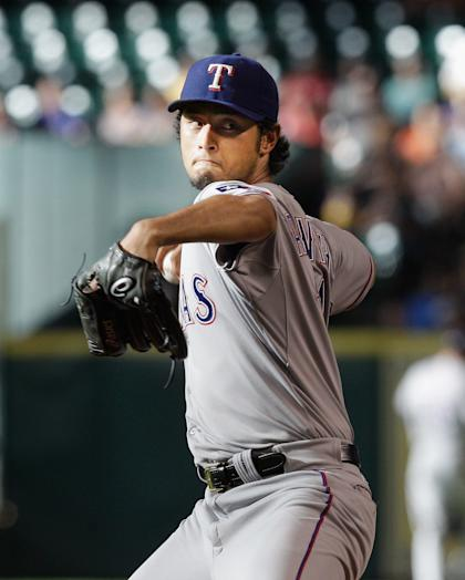Yu Darvish has recorded 11.2 strikeouts per nine innings over his first three seasons. (Getty)