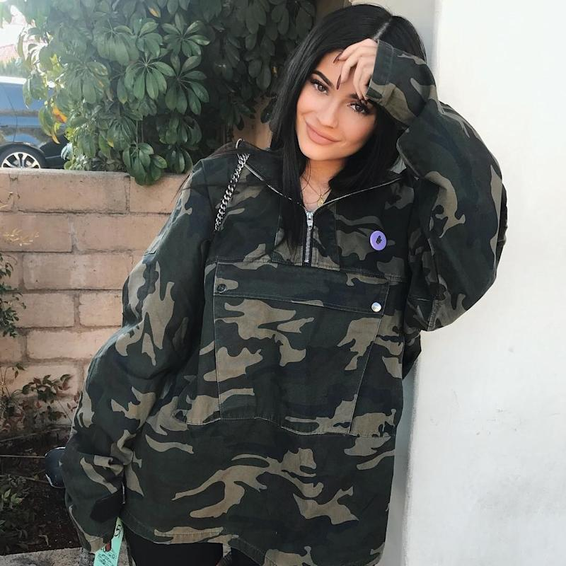 Kylie Jenner Wears Red Adidas Tracksuit to Heather Sanders's Baby Shower