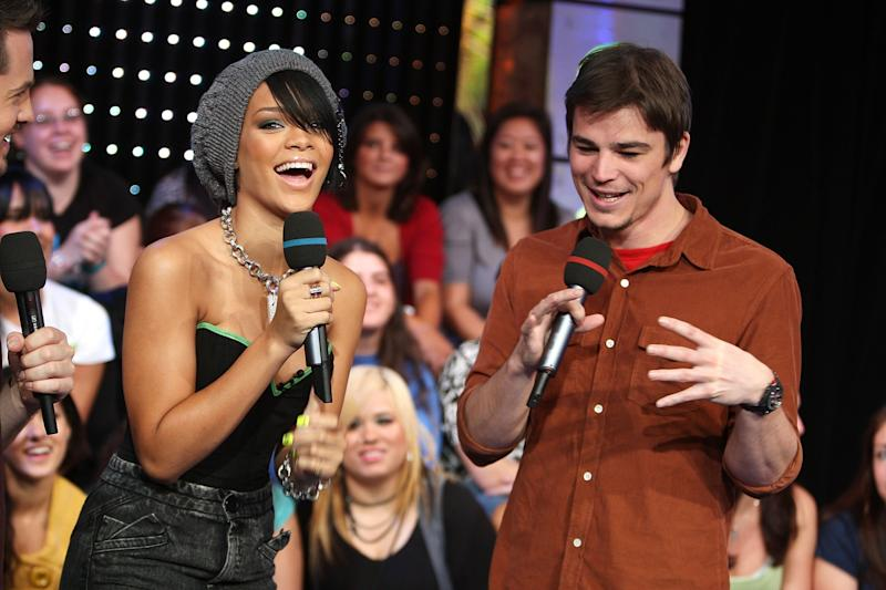 In 2007, Rihanna was rumored to be seen out and about with actor Josh Hartnett—a relationship she later denied. The two were photographed together that year, albeit during an appearance on TRL.