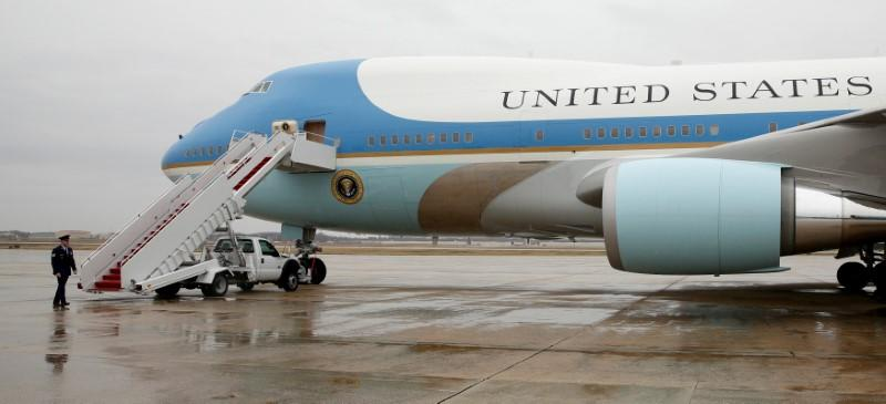 FILE PHOTO: Air Force One at Joint Base Andrews in Maryland