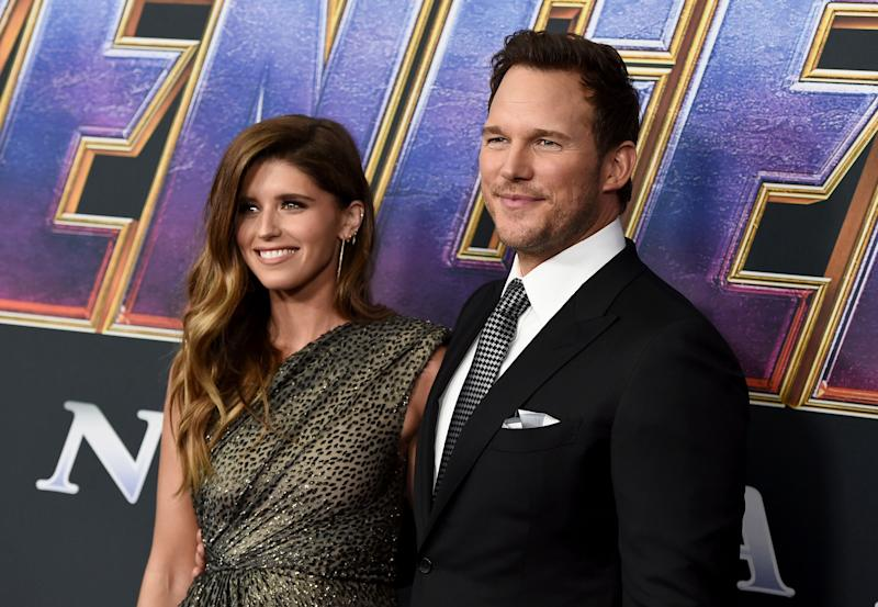 "Katherine Schwarzenegger, left, and Chris Pratt arrive at the premiere of ""Avengers: Endgame"" at the Los Angeles Convention Center on Monday, April 22, 2019. (Photo by Jordan Strauss/Invision/AP)"