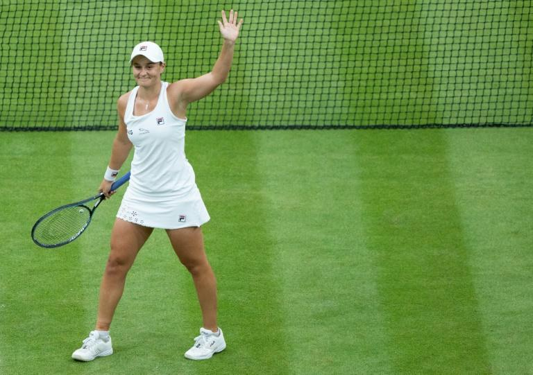 Australia's Ashleigh Barty reached the women's Wimbledon semi-finals for the first time with an easy win over compatriot Ajla Tomljanovic
