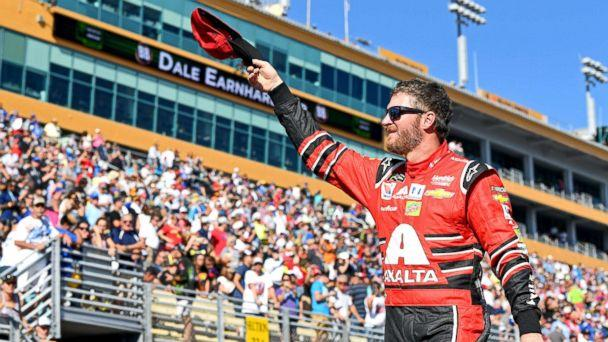 PHOTO: NASCAR Cup Series driver Dale Earnhardt Jr. (88) waves before the Ford EcoBoost 400 at Homestead-Miami Speedway, Nov. 19, 2017. (John David Mercer-USA TODAY Sports via Reuters)