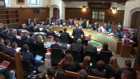 A general view of UK Supreme Court hearing in London