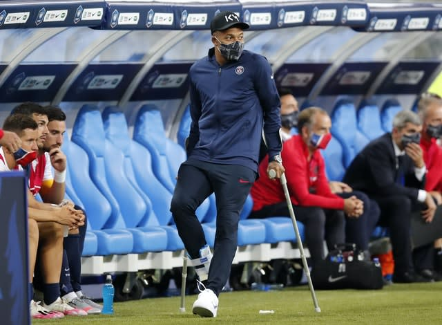 Kylian Mbappe's ankle injury makes him a major doubt for the Champions League quarter-finals