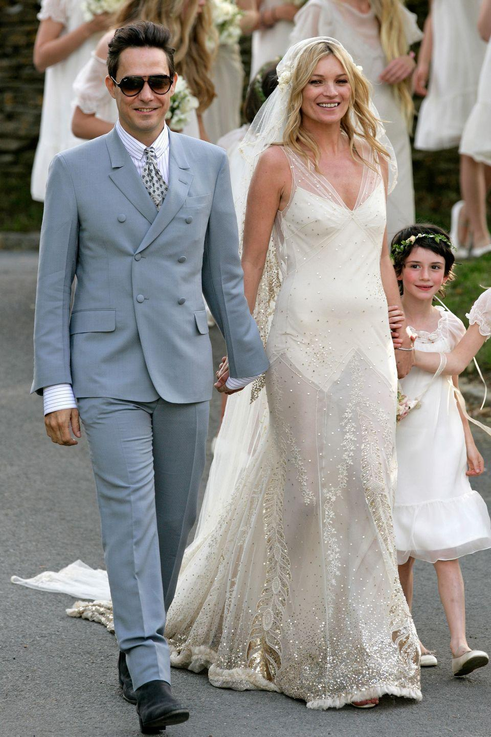 <p>When the fashion model married Jamie Hinceat, she wore a custom gown by John Galliano that was inspired by popular chiffon dresses from the '30s. While undeniably stunning, some people did point out that it looked a <em>little </em>see through. </p>