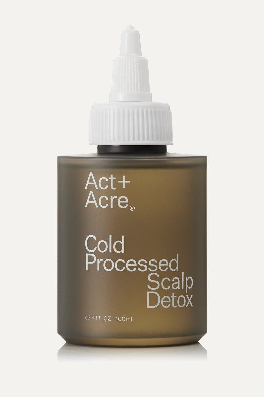 """<h3><a href=""""https://www.net-a-porter.com/us/en/product/1219060"""" rel=""""nofollow noopener"""" target=""""_blank"""" data-ylk=""""slk:Act+Acre Cold Processed Scalp Detox"""" class=""""link rapid-noclick-resp"""">Act+Acre Cold Processed Scalp Detox</a></h3><br>Hip packaging? Check. A+ ingredients? Check. This plant-based scalp treatment is powered by botanical ingredients like moringa, basil leaf, amaranth, and baobab to nourish roots and gently rid the scalp of impurities.<br><br><strong>Act+Acre</strong> Cold Processed Scalp Detox, $, available at <a href=""""https://go.skimresources.com/?id=30283X879131&url=https%3A%2F%2Fwww.net-a-porter.com%2Fus%2Fen%2Fproduct%2F1219060"""" rel=""""nofollow noopener"""" target=""""_blank"""" data-ylk=""""slk:Net-A-Porter"""" class=""""link rapid-noclick-resp"""">Net-A-Porter</a>"""