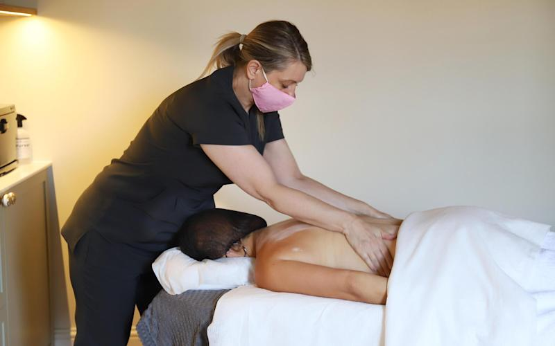 Becci had a 'covid secure' massage at the spa, which she was nervous about, but concluded was a great experience