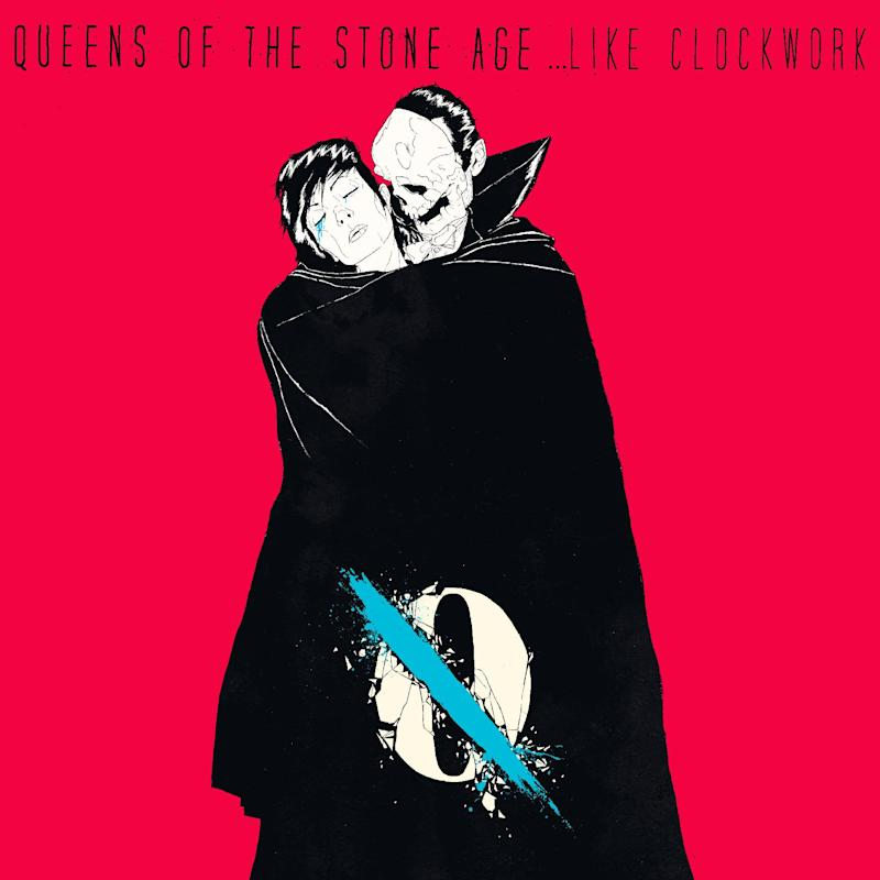 """This CD cover image released by Matador Records shows """"Like Clockwork,"""" by Queens of the Stone Age. (AP Photo/Matador Records)"""