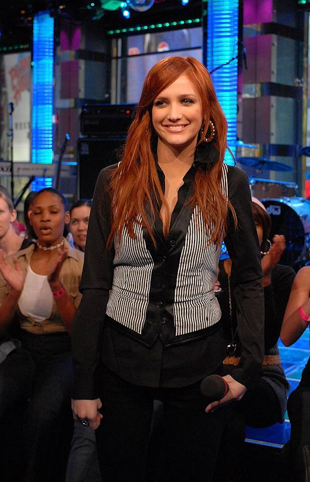 "Acid reflux queen Ashlee Simpson also pops in to discuss her latest project, an album entitled ""Bittersweet World,"" which features production courtesy of Timbaland and the lead single, ""Outta My Head."" George Napolitano/<a href=""http://www.filmmagic.com/"" target=""new"">FilmMagic.com</a> - February 25, 2008"