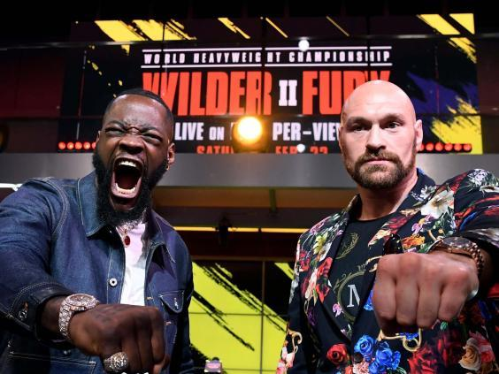 Deontay Wilder and Tyson Fury meet against on 22 February (Getty)