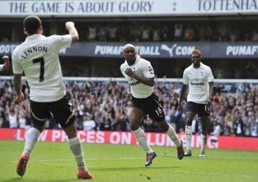Tottenham Hotspur players during a match against Fulham at White Hart Lane in London, in May 2012. When Redknapp arrived from Portsmouth to replace Juande Ramos at White Hart Lane in 2008, Tottenham were bottom of the Premier League. But he has since led them to the quarter-finals of the Champions League and two top four finishes in the Premier League