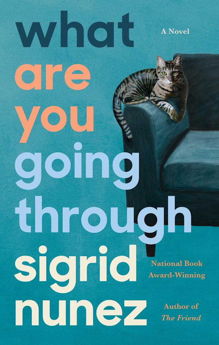 "Book jacket for Sigrid Nunez's ""What Are You Going Through."""